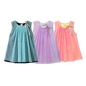 無袖洋裝 紗裙 洋裙 女童 A字裙 連身裙 連衣裙 Augelute 42155