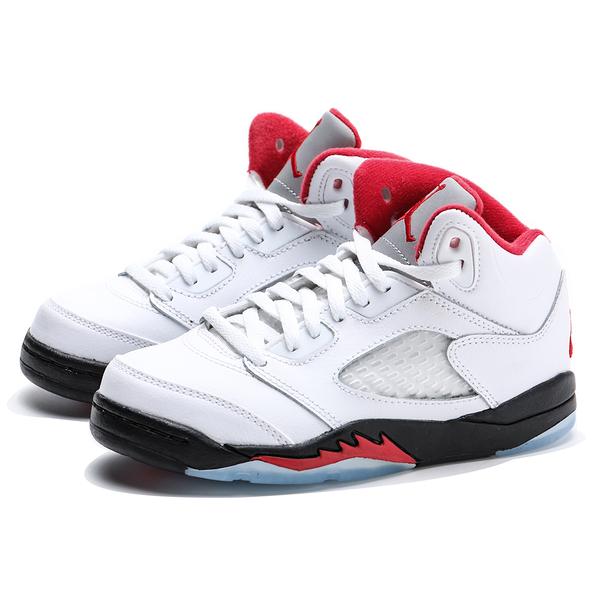 NIKE 籃球鞋 JORDAN PS AJ5 流川楓 白紅 五代 喬丹 運動 中童 (布魯克林) 440889-102