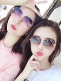 2019新款韓版街拍太陽鏡女潮圓臉防紫外線眼鏡方臉gm墨鏡ins