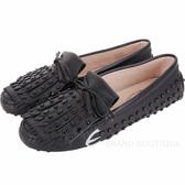 TOD'S Gommino frange 流蘇飾片休閒豆豆鞋(黑色) 1840638-01