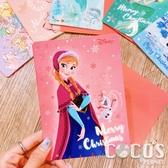 正版 迪士尼 冰雪奇緣 安娜 艾莎 雪寶 聖誕節卡片 耶誕卡片 大卡片 附信封 COCOS XX001