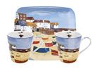 英國Pimpernel-兩杯一盤禮盒組(濱海風情)