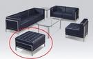 HY-597-3    103組合式沙發組-輔助沙發-黑皮/方格-單張