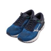 MIZUNO WAVE SKYRISE 慢跑鞋 深藍 J1GC200903 男鞋