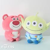 【玩具總動員4軟QQ坐姿娃娃16吋】Norns迪士尼正版 三眼怪 熊抱哥玩偶 聖誕節禮物