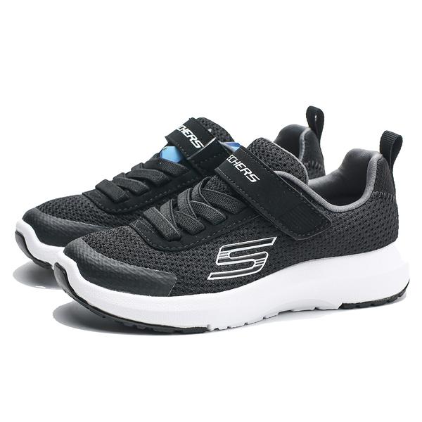 SKECHERS DYNAMIC TREAD 黑白  黏帶 休閒鞋 中童 (布魯克林) 98151LBKW