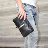 新款時尚男士手拿包 潮流條紋男手拎包 大容量錢包手機手抓包  朵拉朵衣櫥