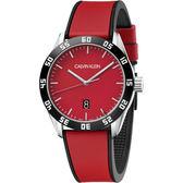 Calvin Klein CK 運動風格手錶-紅/42mm K9R31CUP