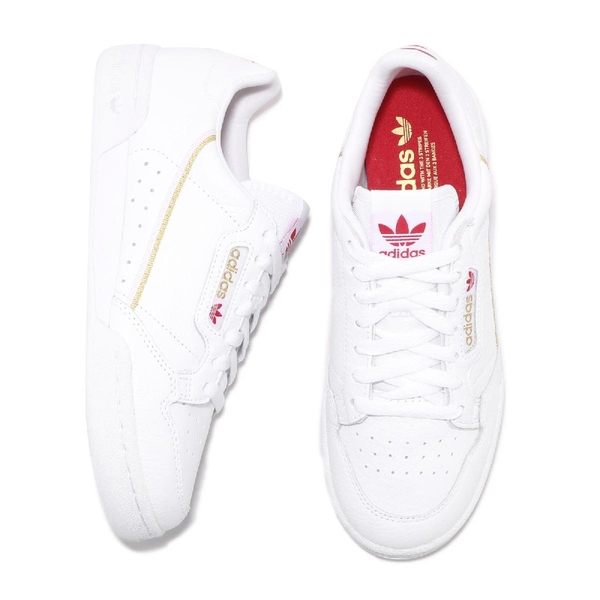 adidas 休閒鞋 Continental 80 白 金 紅 女鞋 情人節 皮革鞋面 運動鞋 【ACS】 FW6391