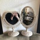 鏡子網紅鏡子ins風化妝鏡臺式少女心桌面梳妝鏡北歐公主鏡旋轉雙面鏡 小山好物