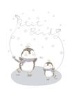 韓國Petit Bird竹纖維嬰幼兒防水保潔床墊(100X130cm)企鵝家族 900元
