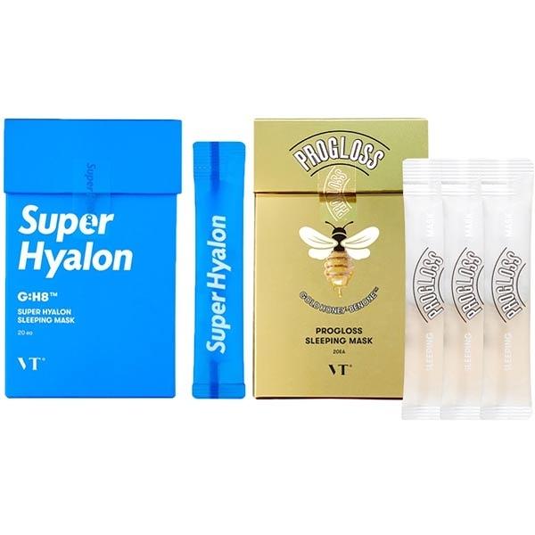 韓國 VT黃金蜂蜜/超級玻尿酸 晚安睡眠面膜(4mlx20入)盒裝【小三美日】
