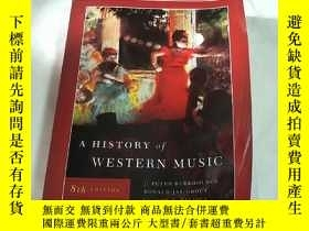 二手書博民逛書店a罕見history of western musicY8088