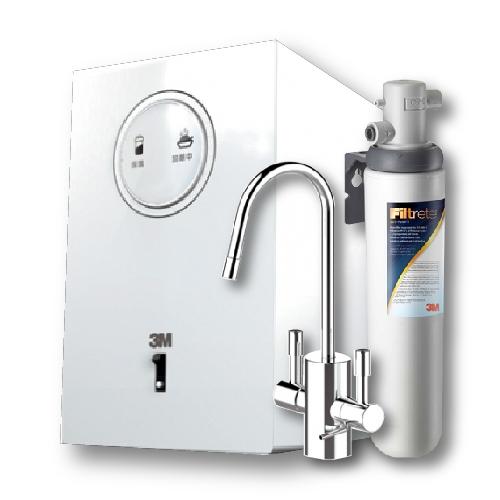 【贈 3M SQC前置樹脂系統+樹脂濾心1入】3M淨水器 HEAT1000廚下型加熱器/飲水機+S004加熱器雙溫淨水組
