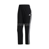 adidas 長褲 3-Stripes 7/8 Pants 黑 白 女款 專業 九分褲 運動休閒【ACS】 FJ7153