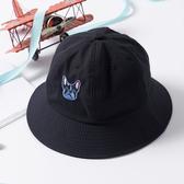 漁夫帽 可愛 狗狗 圖騰 可折疊 布帽 盆帽 遮陽 漁夫帽【JYF0125】 ENTER  04/12