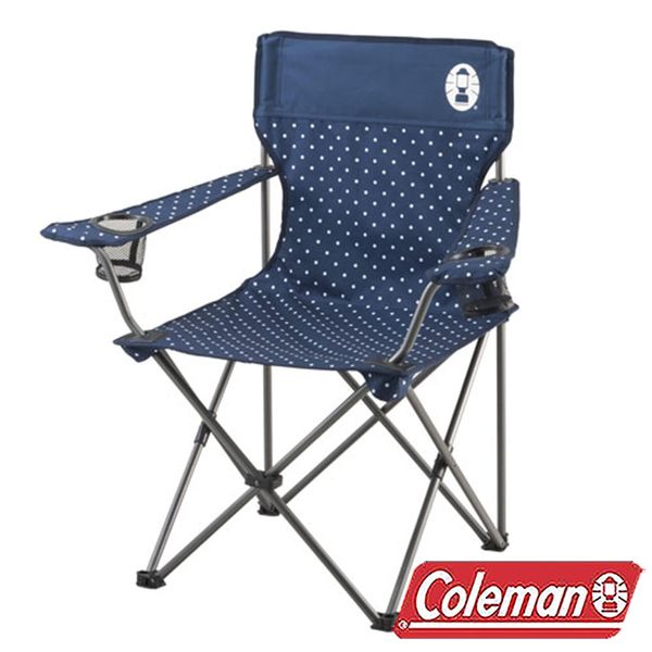 Coleman 圓點海軍藍渡假休閒椅/CM-26736|休閒|露營|戶外