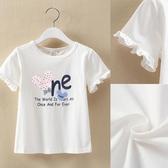 女童短袖上衣 女童短袖T恤夏裝新款中大童洋氣休閒上衣兒童夏季圓領打底衫-Ballet朵朵