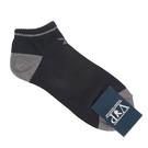 PLAYBOY簡約兔LOGO休閒船型短襪(黑色)980121-3
