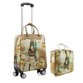 拉桿包女大容量旅行包軟包可折疊拉桿箱萬向輪行李包手提包 - 風尚3C