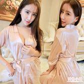 情趣睡衣 性感可愛浴袍透明蕾絲女式內衣極度誘惑睡衣睡袍套裝制服日系