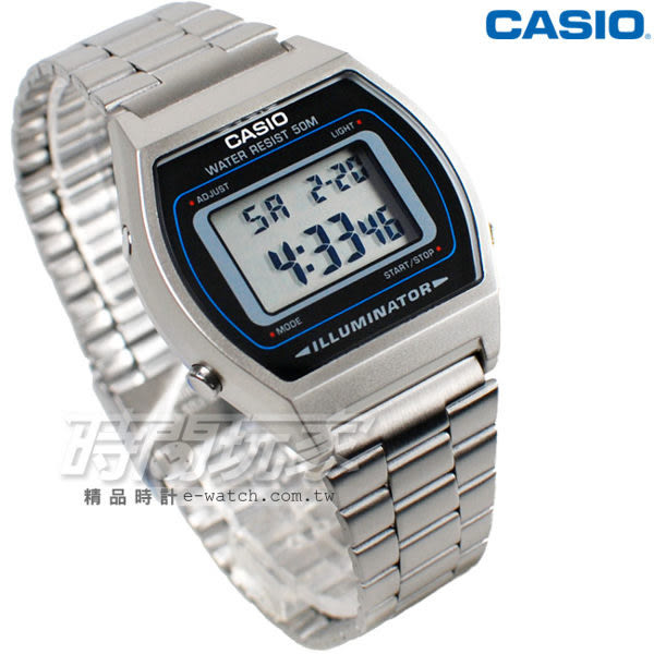 CASIO卡西歐 B640WD-1A 大錶面 LED照明 電子錶 B640WD-1AVDF 男錶 中性錶 運動錶 學生錶 日期 計時碼表