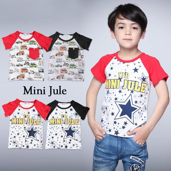 童裝 上衣 彩繪星星車子單口袋/雙色大小星星字母棒球T(共4色)