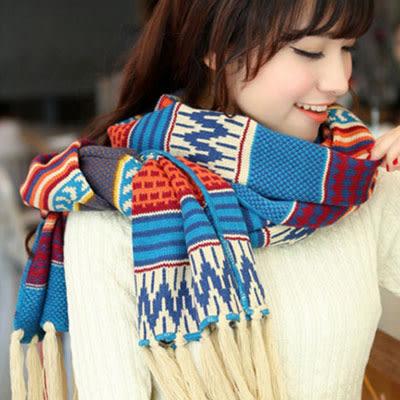 披肩圍巾 波西米亞流蘇圖騰圍巾【Ann梨花安】
