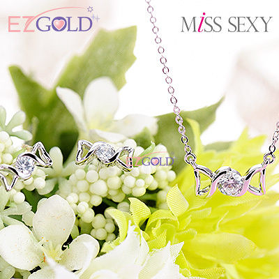 Miss Sexy銀飾♥甜蜜童話♥銀飾項鍊耳環套組