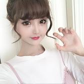 韓式假瀏海空氣瀏海輕薄蓬鬆微捲鬢角內扣隱形無痕瀏海假髮片頭簾