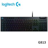Logitech 羅技 G813 LIGHTSYNC RGB 機械式 電競 鍵盤 GL 敲擊感軸