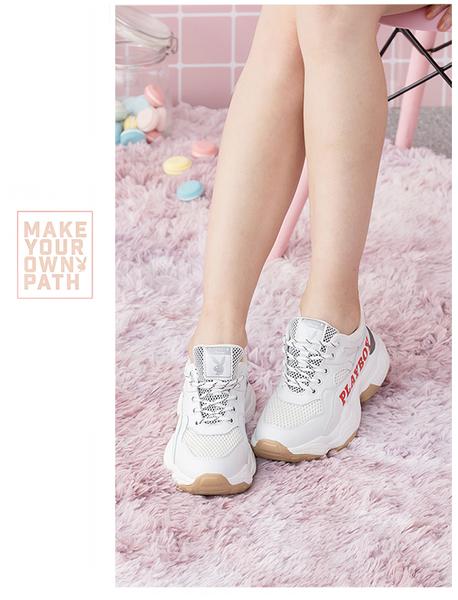 PLAYBOY RetroII 兔兔老爹鞋-白紅(Y5725)