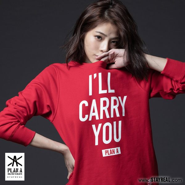 PLAN A I will carry you厚棉T