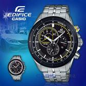 CASIO 卡西歐 手錶專賣店 國隆 EDIFICE EFR-561DB-1A 三眼計時男錶 不鏽鋼錶帶 黑色錶面 EFR-561DB