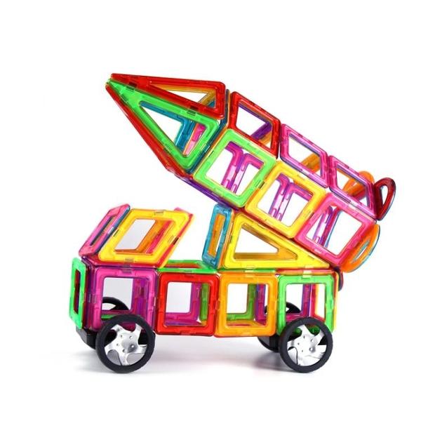 磁力片積木兒童益智玩具磁鐵吸鐵石散拼裝3-6-8-10周歲寶寶女男孩 喵小姐