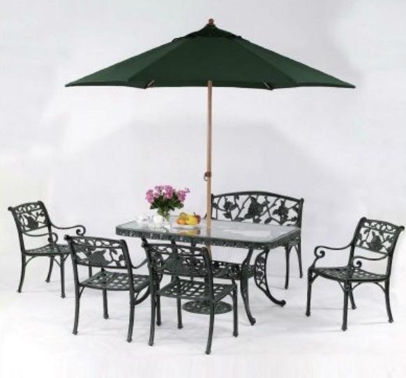 【南洋風休閒傢俱】戶外休閒桌椅系列-玫瑰長方桌椅組 戶外餐桌椅組 適民宿 餐廳 (#266 #20320 #20301)