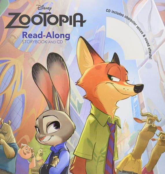 (二手書)Zootopia: Read-Along Storybook and CD