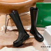 真皮騎士靴女厚底長靴不過膝高筒靴子潮秋冬【時尚大衣櫥】