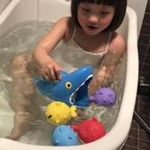 洗澡玩具兒童寶寶浴室洗澡沖涼戲水玩具沙灘玩具鯊魚捉小魚 小天使