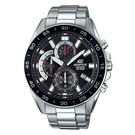 CASIO EDIFICE 三眼計時日期顯示賽車男錶(EFV-550D-1A)-黑x53mm