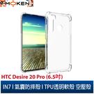 【默肯國際】IN7 HTC Desire 20 Pro (6.5吋) 氣囊防摔 透明TPU空壓殼 軟殼 手機保護殼