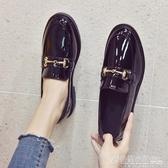 英倫風小皮鞋女新款春季韓版百搭學生女鞋平底黑色豆豆鞋夏季 格蘭小舖
