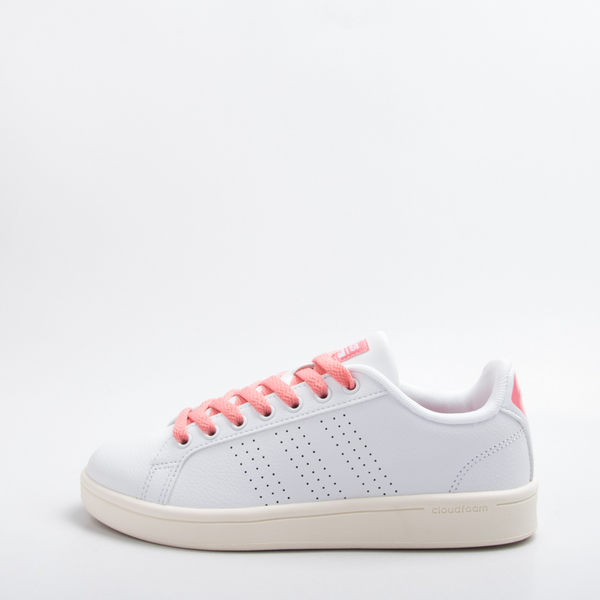 ADIDAS NEO 女款復古休閒鞋-白/粉 AW3974