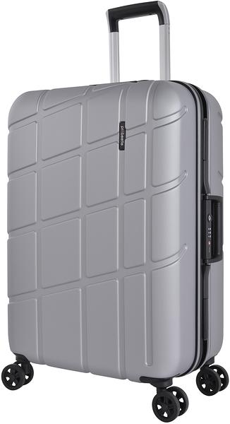 萬國 PROBEETLE 28吋幾何變奏曲 霧面鋁框 德國拜耳PC材質 行李箱/旅行箱-(銀) 9P3