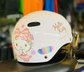 卡通安全帽,CA110,熊KITTY/白,附抗UV-PC安全鏡片