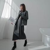 MIUSTAR SUITS打褶鬆緊西裝直筒中長裙(共2色,S-M)【NJ2182】預購