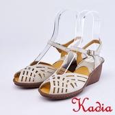 kadia.親膚舒適牛皮涼鞋(9101-00白色)