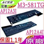 ACER 電池(原廠)-宏碁  AP12A3I ,M3,M3-581TG ,3ICP7/67/90,P645,P645-M,TMP645-M,P645-S,P645-SG,P658,TMP658