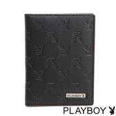 PLAYBOY- 護照夾 BRAND-NEW系列-雅痞黑