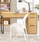 【森可家居】達拉斯4尺三抽書桌(不含椅) 7CM374-6 木紋質感 北歐工業風
